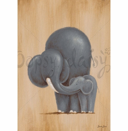 Safari Kisses - Elephant Canvas Wall Art