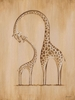 Safari Kisses - Giraffe Canvas Wall Art