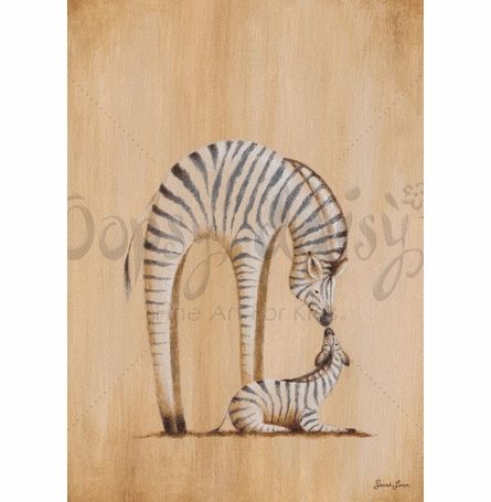 Safari Kisses - Zebra Canvas Wall Art