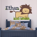 Safari Lion Fabric Wall Decal