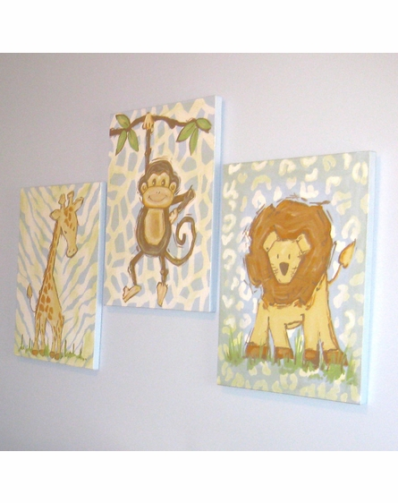 Safari Lion Hand Painted Canvas