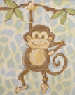 Safari Monkey Hand Painted Canvas