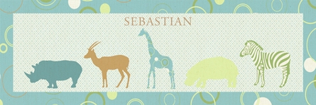 Safari Parade Canvas Wall Art