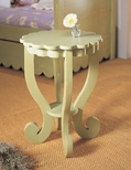 367 Scallop End Table