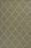 Sage and Beige Quatrefoil Rug