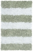 Sage Stripes Shaggy Raggy Rug