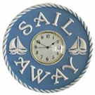 Sail Away Round Wall Clock