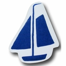 Sail Boat Blue Drawer Pull