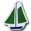 Sail Boat Green Drawer Pull