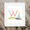 Sail Boat Personalized Art Print