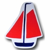 Sail Boat Red Drawer Pull