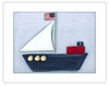 Sailboat Framed Canvas Reproduction