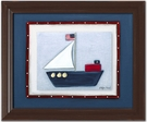 Sailboat Personalized Framed Canvas Reproduction