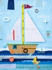 Sailboat Treasures Canvas Wall Art