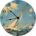 Sailing Race Wall Clock