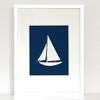 Sailing Sailboat Art Print