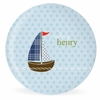 Sailing Skipper Personalized Kids Plate
