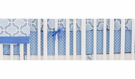 Sailor Blue Polka Dot Crib Sheet