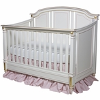 Sailor Crib in Antico White and Pink with Gold Gilding