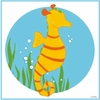 Sally the Seahorse Canvas Reproduction