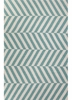 Salma Chevron Rug in Ceramic and White