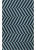Salma Chevron Rug in Deep Navy