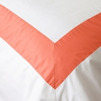 Salmon Windowpane Duvet Cover