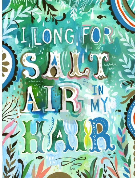 Salt Air in My Hair Canvas Wall Art