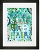 Salt Air in My Hair Framed Art Print
