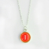 Samba Color Personalized Initial Necklace