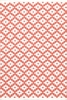 Samode Indoor/Outdoor Rug in Coral and White