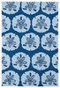 Sand Dollar Matira Rug in Blue