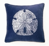 Sand Dollar Velvet Embroidered Pillow