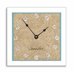 Sand Dollar Wall Clock with Narrow Frame