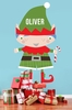 Santa's Little Helper Boy Peel & Place Wall Stickers