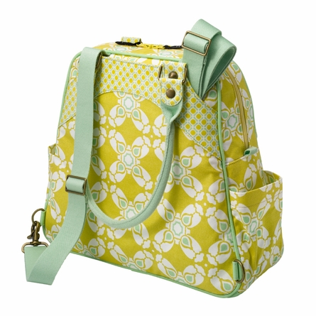 Sashay Satchel Diaper Bag - Citron Blooms