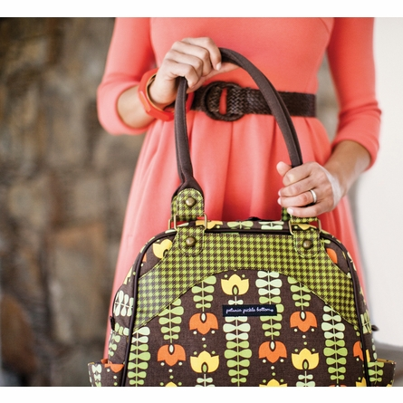 Sashay Satchel Diaper Bag - Adoring Autumn