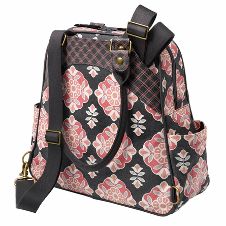 Sashay Satchel Diaper Bag - Blooming Begonia
