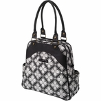 Sashay Satchel Diaper Bag - Evening Blooms