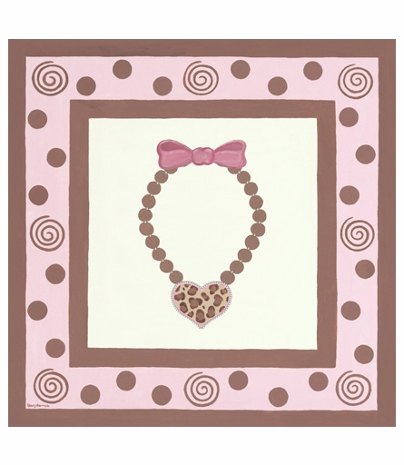 Sassy Glamour Heart Canvas Reproduction