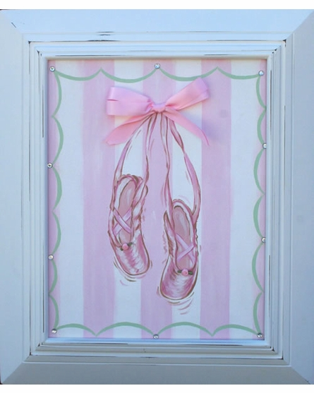 Satin Ballet Shoes Hand Painted Canvas