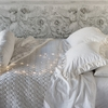 Velvet with Satin Ruffle Pillow Sham