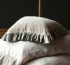 Velvet with Satin Ruffle Square Throw Pillow