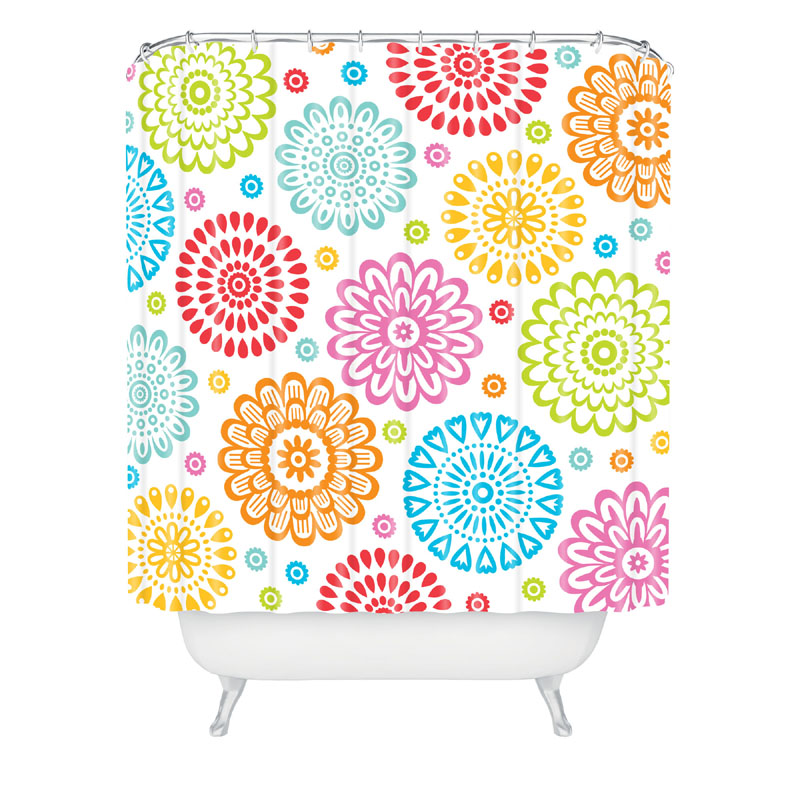 Sausalito Floral Shower Curtain By DENY Designs