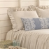 Savannah Linen Chambray Dove Grey Euro Sham