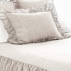 Savannah Linen Chambray Dove Grey Standard Sham