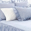 Savannah Linen Chambray French Blue Euro Sham