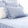 Savannah Linen Chambray French Blue Standard Sham