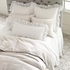 Savannah Linen Gauze White Double Boudoir Pillow
