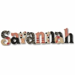Savannah Pink and Black Wall Letters